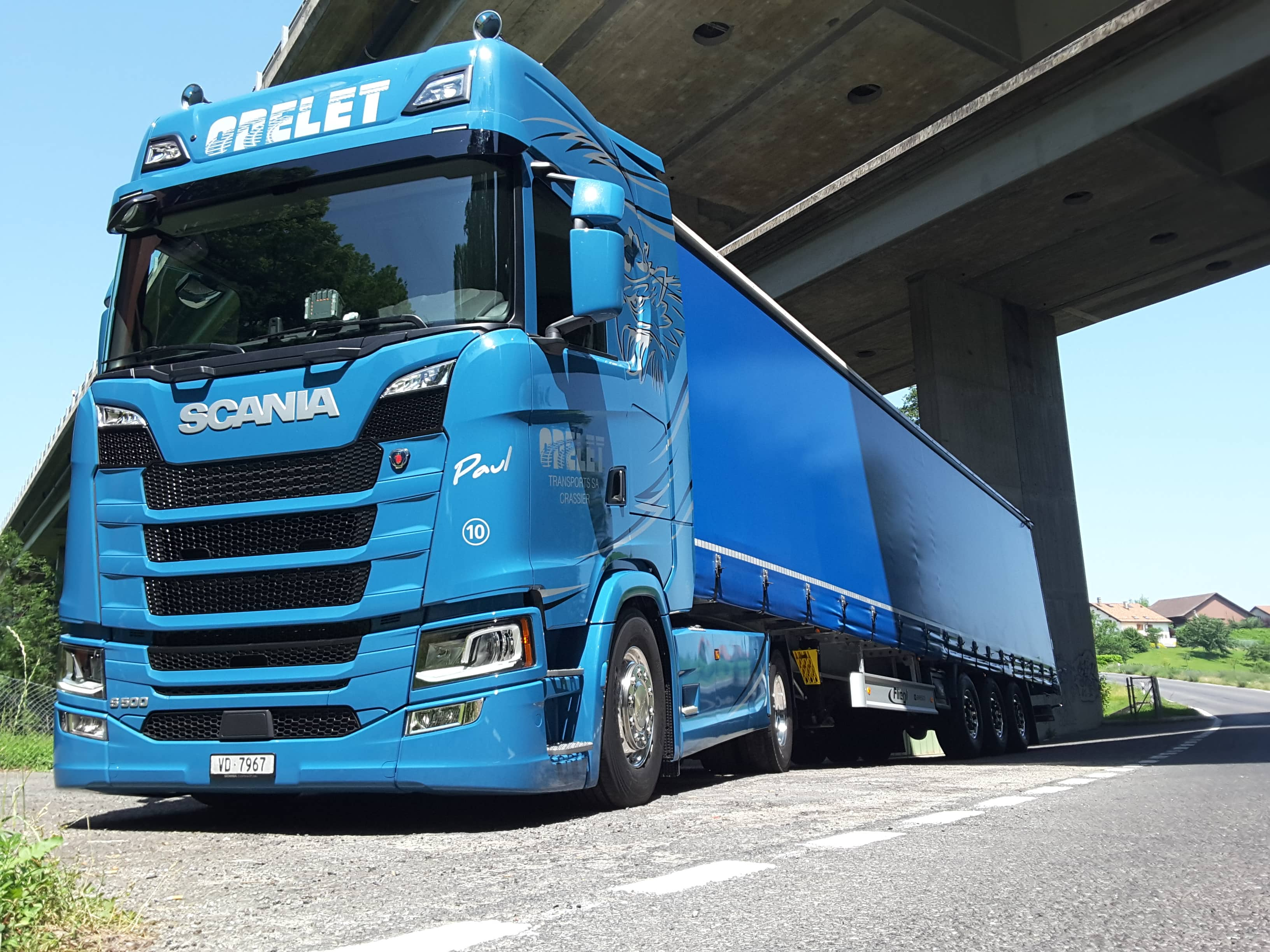 Camion remorque - Odelet Transports SA